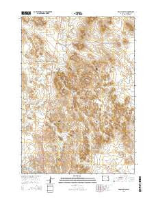 Reno Junction Wyoming Current topographic map, 1:24000 scale, 7.5 X 7.5 Minute, Year 2015