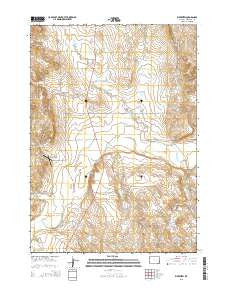 Riverview Wyoming Current topographic map, 1:24000 scale, 7.5 X 7.5 Minute, Year 2015