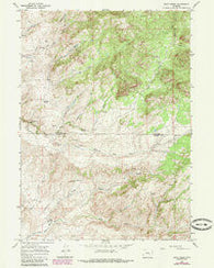 Rock Creek Wyoming Historical topographic map, 1:24000 scale, 7.5 X 7.5 Minute, Year 1964