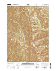 Rock Lake Peak Wyoming Current topographic map, 1:24000 scale, 7.5 X 7.5 Minute, Year 2015