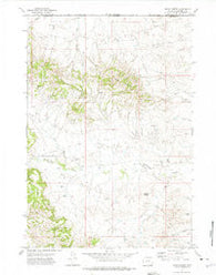 Rocky Butte Wyoming Historical topographic map, 1:24000 scale, 7.5 X 7.5 Minute, Year 1972