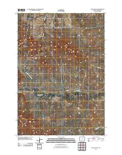 Rocky Butte Wyoming Historical topographic map, 1:24000 scale, 7.5 X 7.5 Minute, Year 2011
