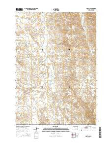 Rozet NW Wyoming Current topographic map, 1:24000 scale, 7.5 X 7.5 Minute, Year 2015