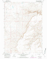 Ruby Knolls Wyoming Historical topographic map, 1:24000 scale, 7.5 X 7.5 Minute, Year 1966