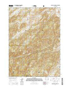 Saddleback Mountain Wyoming Current topographic map, 1:24000 scale, 7.5 X 7.5 Minute, Year 2015