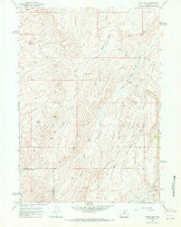 Sand Point Wyoming Historical topographic map, 1:24000 scale, 7.5 X 7.5 Minute, Year 1966