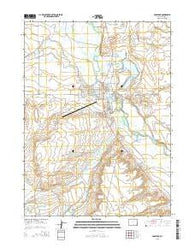 Saratoga Wyoming Current topographic map, 1:24000 scale, 7.5 X 7.5 Minute, Year 2015