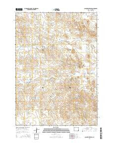 Scaper Reservoir Wyoming Current topographic map, 1:24000 scale, 7.5 X 7.5 Minute, Year 2015