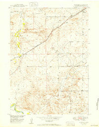 Shawnee Wyoming Historical topographic map, 1:24000 scale, 7.5 X 7.5 Minute, Year 1950