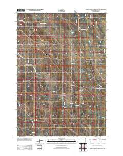 Sheep Canyon Creek East Wyoming Historical topographic map, 1:24000 scale, 7.5 X 7.5 Minute, Year 2012