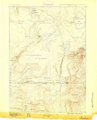 Shoshone Wyoming Historical topographic map, 1:125000 scale, 30 X 30 Minute, Year 1886