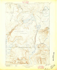 Shoshone Wyoming Historical topographic map, 1:125000 scale, 30 X 30 Minute, Year 1888