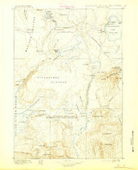 Shoshone Wyoming Historical topographic map, 1:125000 scale, 30 X 30 Minute, Year 1895