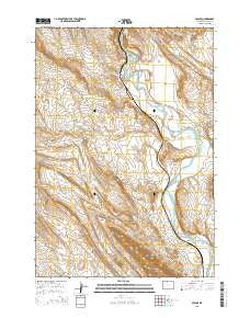 Spence Wyoming Current topographic map, 1:24000 scale, 7.5 X 7.5 Minute, Year 2015
