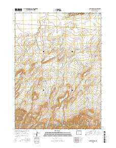 Split Rock NW Wyoming Current topographic map, 1:24000 scale, 7.5 X 7.5 Minute, Year 2015