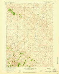 Stinking Water Creek Wyoming Historical topographic map, 1:24000 scale, 7.5 X 7.5 Minute, Year 1959