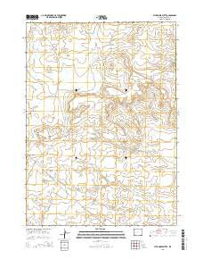 Stud Horse Butte Wyoming Current topographic map, 1:24000 scale, 7.5 X 7.5 Minute, Year 2015
