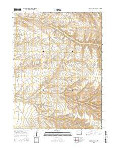 Sugarloaf Basin Wyoming Current topographic map, 1:24000 scale, 7.5 X 7.5 Minute, Year 2015