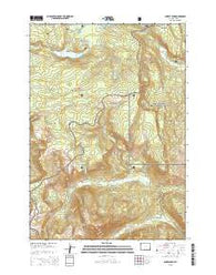 Survey Peak Wyoming Current topographic map, 1:24000 scale, 7.5 X 7.5 Minute, Year 2015