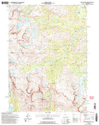 Sweetwater Gap Wyoming Historical topographic map, 1:24000 scale, 7.5 X 7.5 Minute, Year 1991