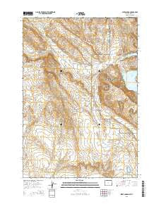 Sykes Spring Wyoming Current topographic map, 1:24000 scale, 7.5 X 7.5 Minute, Year 2015