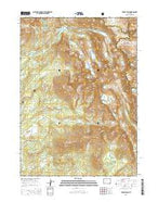 Temple Peak Wyoming Current topographic map, 1:24000 scale, 7.5 X 7.5 Minute, Year 2015 from Wyoming Map Store