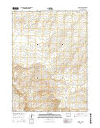 Tenmile Rim Wyoming Current topographic map, 1:24000 scale, 7.5 X 7.5 Minute, Year 2015 from Wyoming Map Store