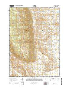 The Horn Wyoming Current topographic map, 1:24000 scale, 7.5 X 7.5 Minute, Year 2015