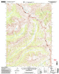 Thorofare Buttes Wyoming Historical topographic map, 1:24000 scale, 7.5 X 7.5 Minute, Year 1991