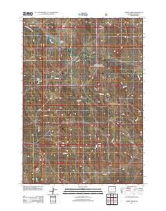 Timber Creek Wyoming Historical topographic map, 1:24000 scale, 7.5 X 7.5 Minute, Year 2012