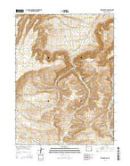 Titsworth Gap Wyoming Current topographic map, 1:24000 scale, 7.5 X 7.5 Minute, Year 2015 from Wyoming Map Store