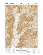 Toltec Wyoming Current topographic map, 1:24000 scale, 7.5 X 7.5 Minute, Year 2015 from Wyoming Map Store