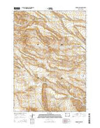 Tonopah Ridge Wyoming Current topographic map, 1:24000 scale, 7.5 X 7.5 Minute, Year 2015 from Wyoming Map Store