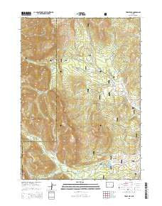 Triple Peak Wyoming Current topographic map, 1:24000 scale, 7.5 X 7.5 Minute, Year 2015