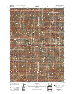 Turnercrest Wyoming Historical topographic map, 1:24000 scale, 7.5 X 7.5 Minute, Year 2012