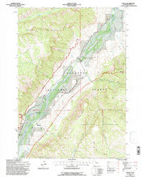 Valley Wyoming Historical topographic map, 1:24000 scale, 7.5 X 7.5 Minute, Year 1991
