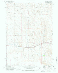 Van Tassell Wyoming Historical topographic map, 1:24000 scale, 7.5 X 7.5 Minute, Year 1977