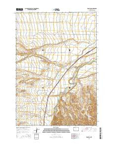 Vocation Wyoming Current topographic map, 1:24000 scale, 7.5 X 7.5 Minute, Year 2015