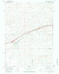 Wamsutter Wyoming Historical topographic map, 1:24000 scale, 7.5 X 7.5 Minute, Year 1966