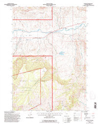 Wapiti Wyoming Historical topographic map, 1:24000 scale, 7.5 X 7.5 Minute, Year 1991