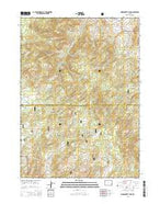 Warbonnett Peak Wyoming Current topographic map, 1:24000 scale, 7.5 X 7.5 Minute, Year 2015 from Wyoming Map Store