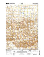 Wardel Reservoir Wyoming Current topographic map, 1:24000 scale, 7.5 X 7.5 Minute, Year 2015 from Wyoming Map Store