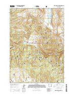 Warm Spring Mountain Wyoming Current topographic map, 1:24000 scale, 7.5 X 7.5 Minute, Year 2015 from Wyoming Map Store