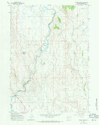 Warren Bridge Wyoming Historical topographic map, 1:24000 scale, 7.5 X 7.5 Minute, Year 1966