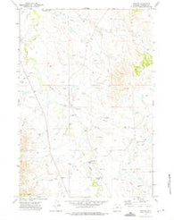 Weston Wyoming Historical topographic map, 1:24000 scale, 7.5 X 7.5 Minute, Year 1972