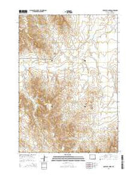 Whitetail Creek Wyoming Current topographic map, 1:24000 scale, 7.5 X 7.5 Minute, Year 2015