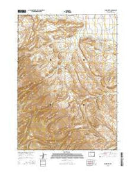 Wind River Wyoming Current topographic map, 1:24000 scale, 7.5 X 7.5 Minute, Year 2015