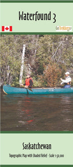 Purchase Clip of canoe map from Saskatchewan Maps Store