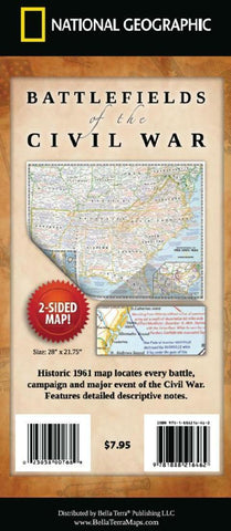 Buy map Battlefields of the Civil War by National Geographic Maps, Bella Terra Publishing LLC