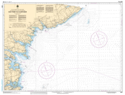 Buy map East Point to/a Cape Bear by Canadian Hydrographic Service